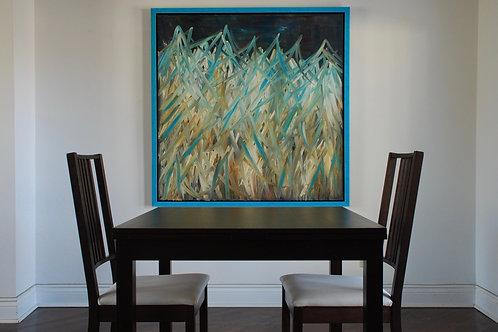 """BLUE SKY  48"""" x 48"""" Original oil on canvas"""