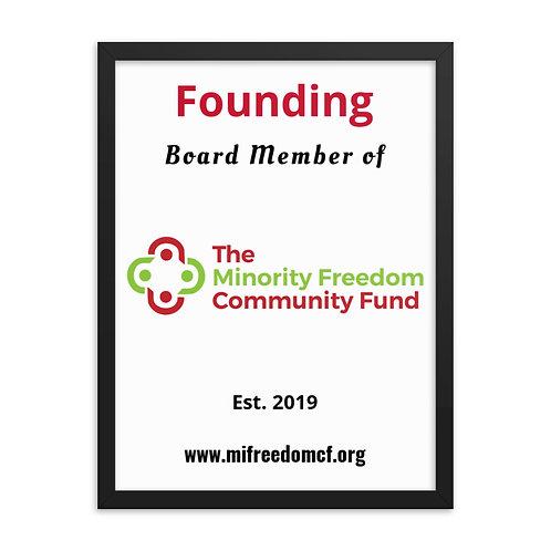 MFCF Founding Board Member Framed poster