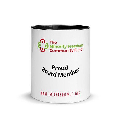 MFCF Proud Board Member Mug with Pop Color