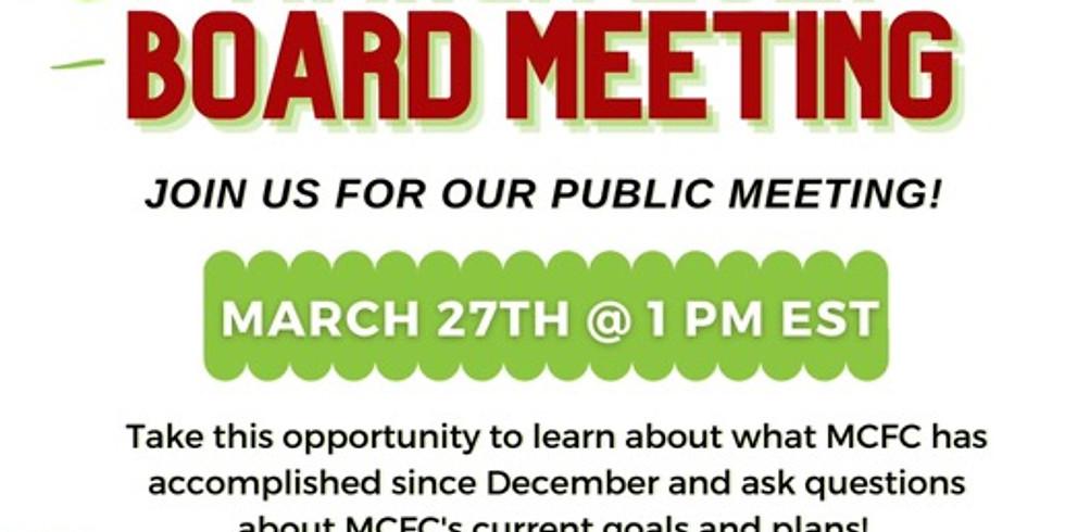 MFCF March 2021 Community Board Meeting