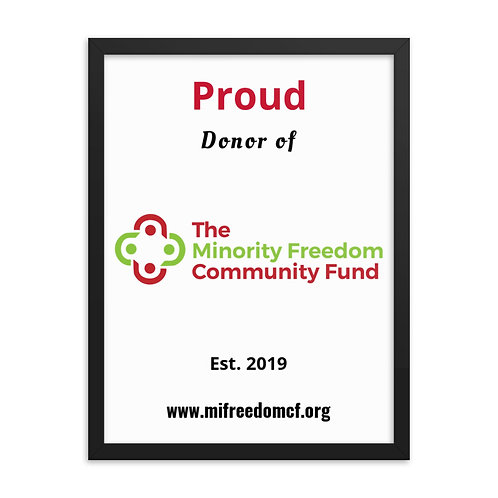 MFCF Proud Donor Framed poster copy copy