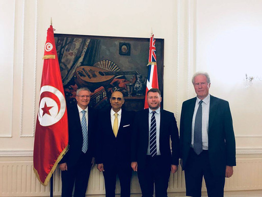 Celebrating the constitution of APPG Tunisia and BTS