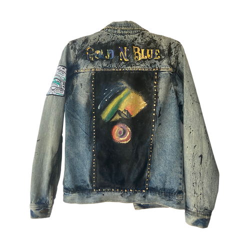 Gold N'Blue Custom Denim Jacket