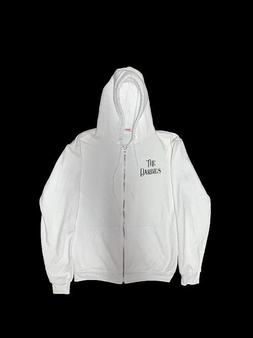 White Hoodie w/zipper light