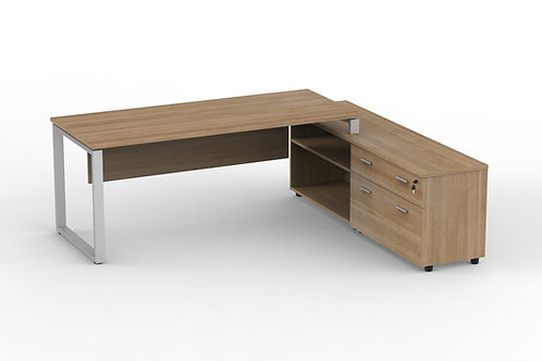 Rectangular Table with Credenza