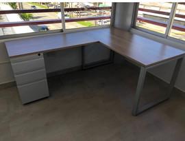 L Shaped Desk with pedestal