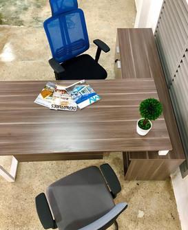 L shaped Desk Natural Wenge Linosa