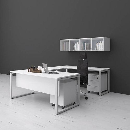 U Simetrical Desk with Overhead