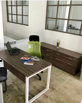 "Natural Wenge Linosa Rectangular Desk ""30 x""60 with modesty panel"