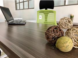 Rectangular Desk Natural Wenge Linosa