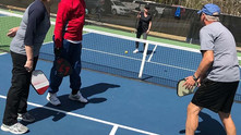 Pickleball: a little bit Ping-Pong and a little bit badminton. All it takes is a little bit of pract