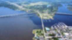 New Bern from the air