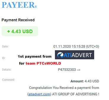 1st proof of payment ATIADVERT.png