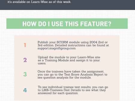 New and Improved SCORM Module Reporting