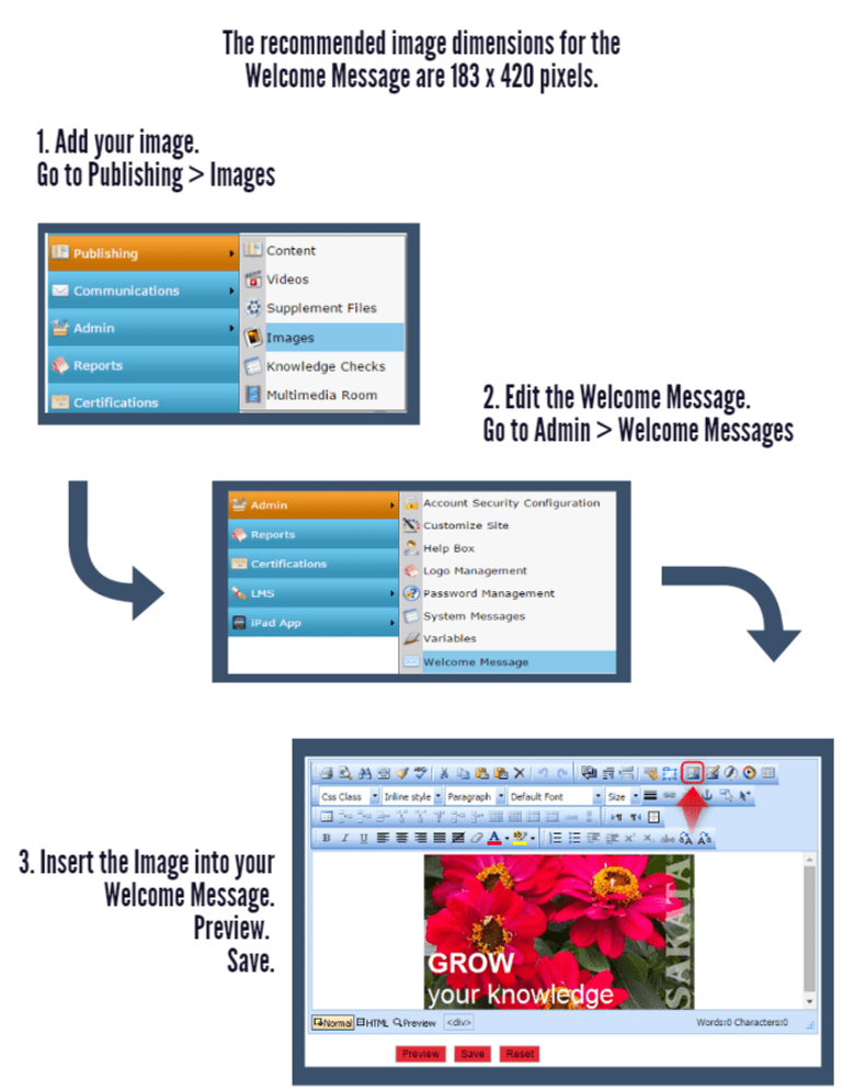 Customizing Welcome Message With Image