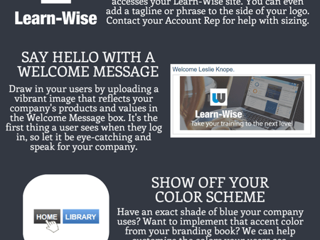Brand Your Training on Learn-Wise