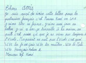 Lettre d'un élève