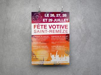 Affiche fête votive