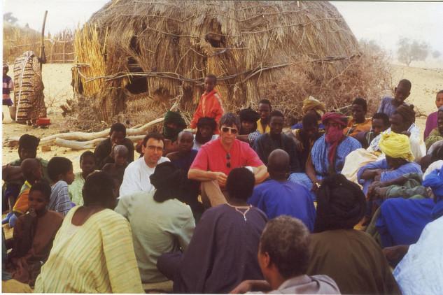 Diawambé: rencontre avec les hommes, février 2000