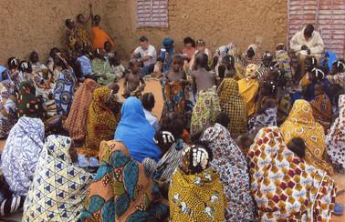 Diawambé, réunion avec les femmes du village, février 2008