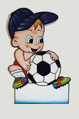 Geburtstafel Bube mit Fussball