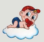 Geburtstafel Bube auf Wolke