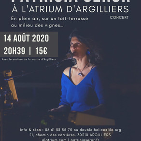 Concert piano/chant vendredi 14 août à l'Atrium d'Argilliers