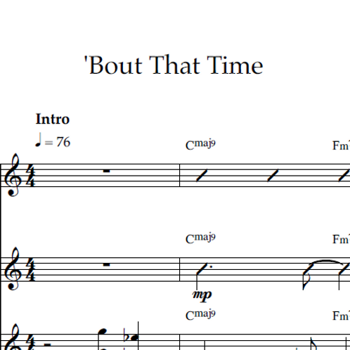 'Bout That Time - Piano/Lead PDF