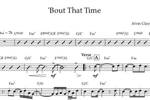 'Bout That Time - Lead Sheet PDF