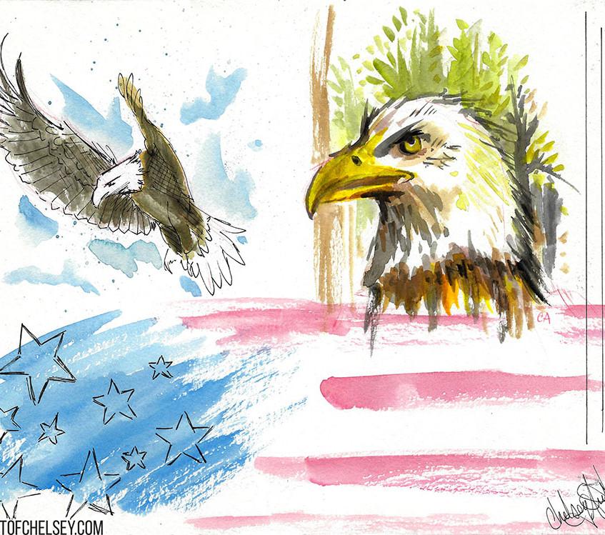 Eagle Watercolor