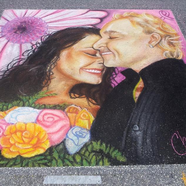 Portrait Chalk Art