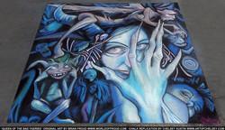 Queen of the Bad Faeries Chalk Art