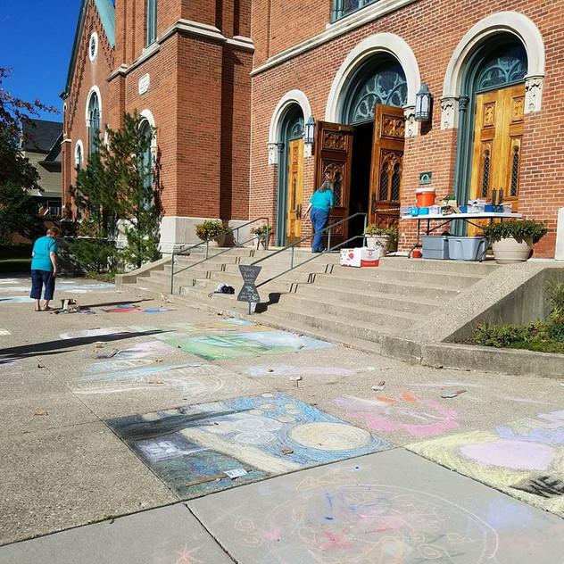 First Baptise Church Chalk Festival