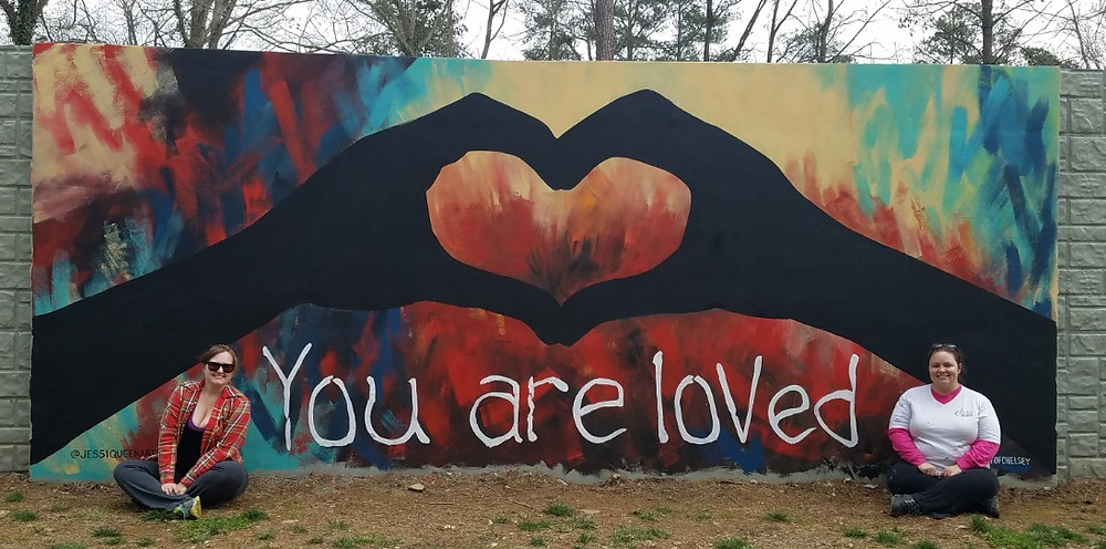 "Path 400 mural ""you are loved"""