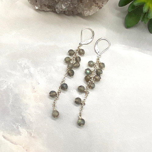 Labradorite Duster Earrings