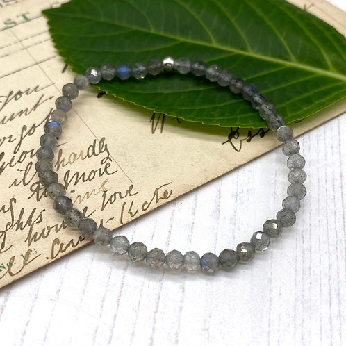 Petite Labradorite Stretch Bracelet