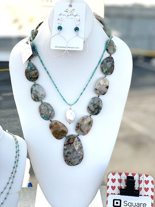 Chrysocolla Statement Necklace