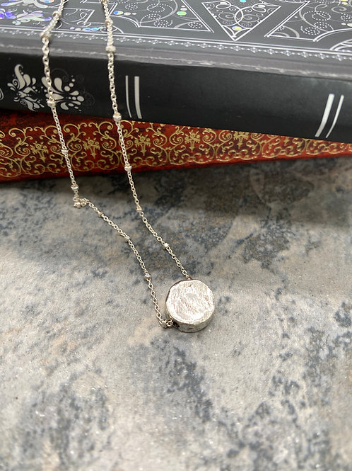 Sterling Silver and Pewter Disk Necklace