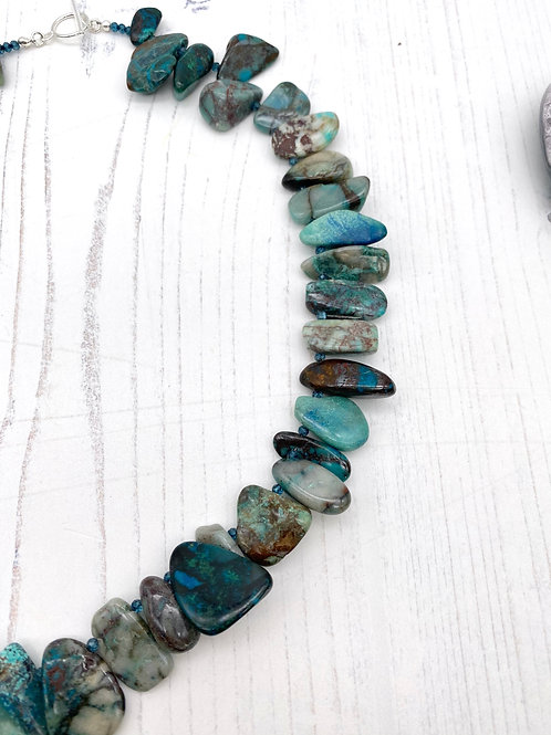 Azurite and Quartz Statement Necklace
