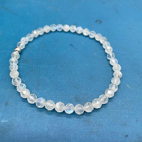 Petite Moonstone Stretch Bracelet