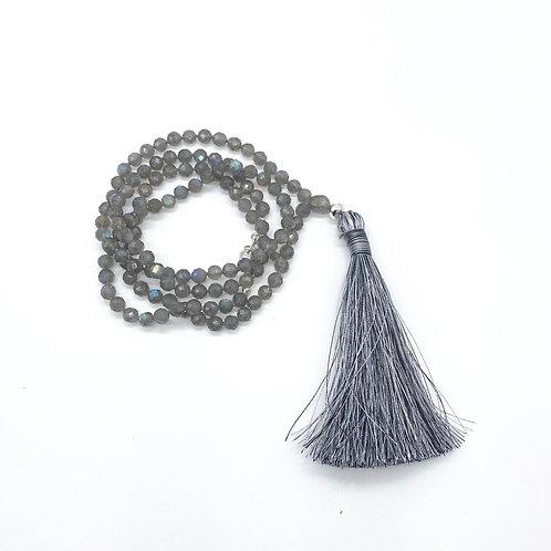 Faceted LabradoriteTassel Necklace