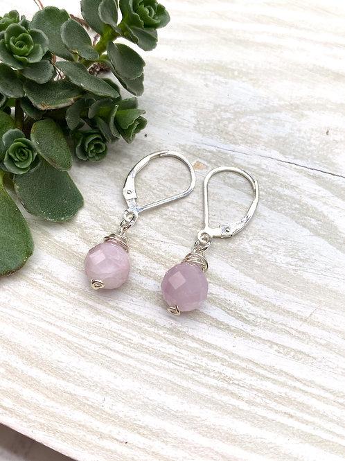 Pink Kunzite Dangle Earrings