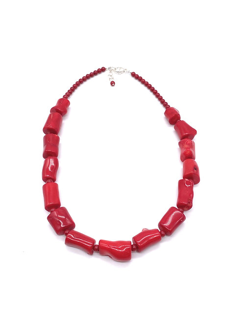 Coral Barrels Necklace