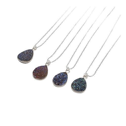 Titanium Druzy Necklace