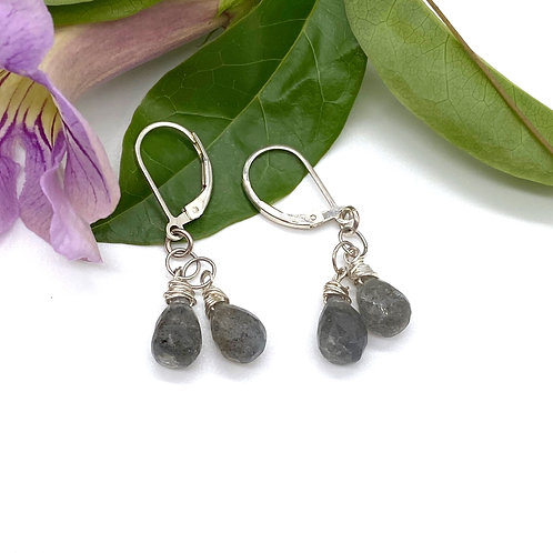 Double Labradorite Earrings