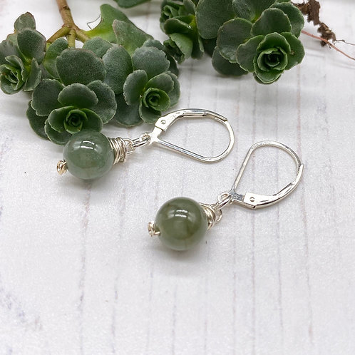 Burmese Jade Dangle Earrings