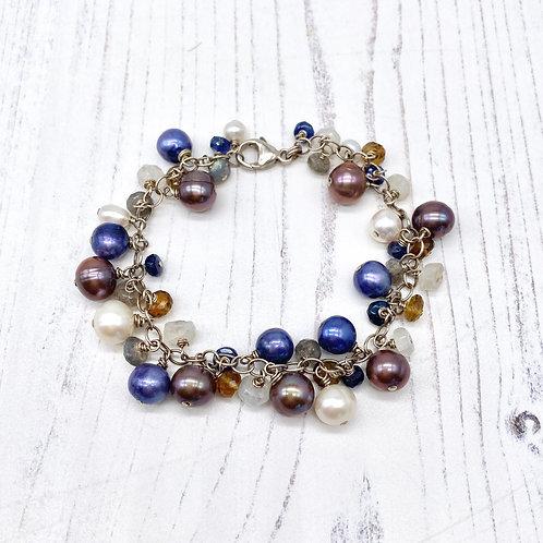 Pearl & Gemstone Charm Bracelet