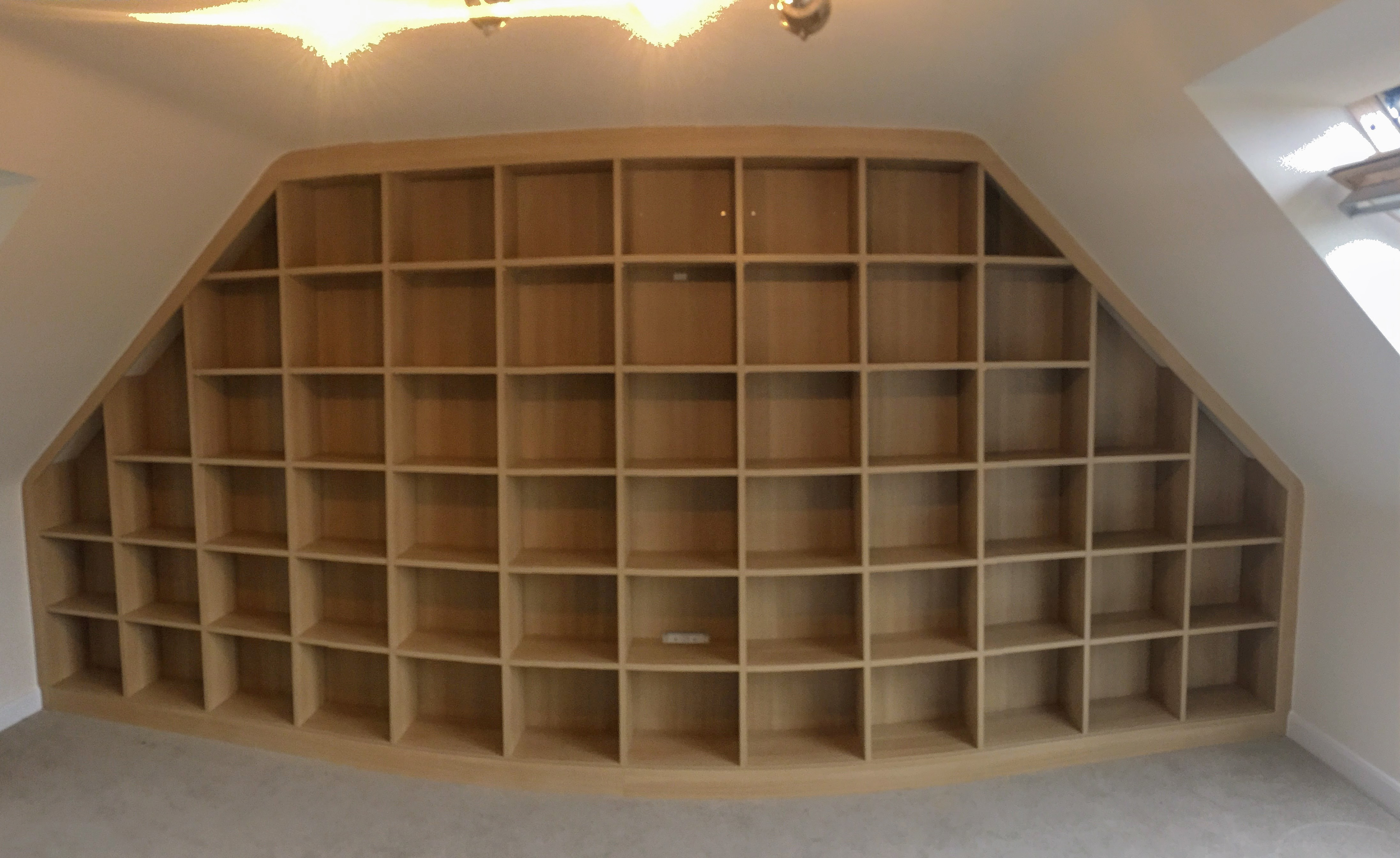 Bookcase (MDF) beneath eaves x 2