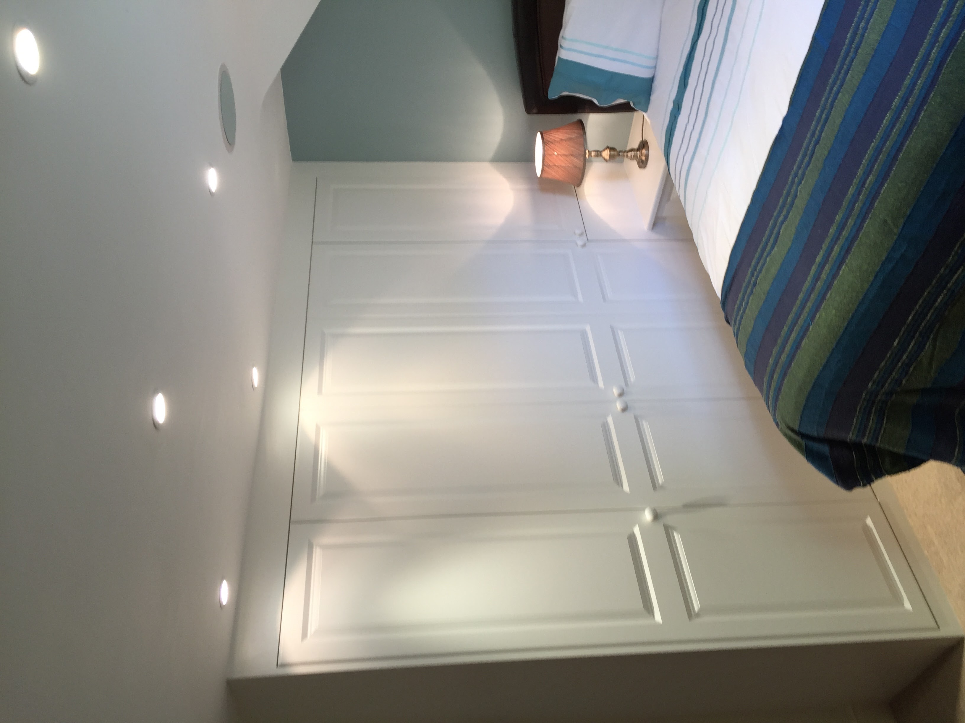 Wardrobes under eaves