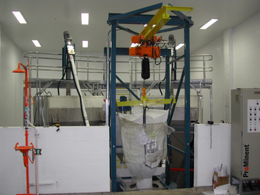 Twin hopper loaded from single bulk bag